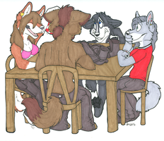 Poker Night by BlackthornPubl