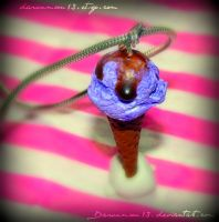 Lilac Ice Cream Charm by Dawnmoon13