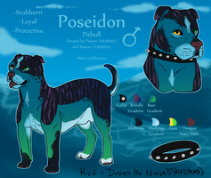 Poseidon - Custom Char Commission by NinjasHeart