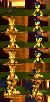 Sonic blows up Tails (Updated) by SRX1995