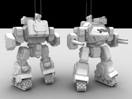 W.i.p3: Assault Mech by AceDarkfire
