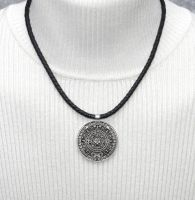 My Aztec Coin on New Nappa Leather Necklace by dlstancel