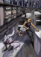 :Commission: Escape from the city by ElkeCanus