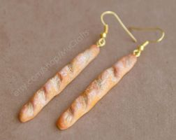 baguette earrings by BadgersBakery