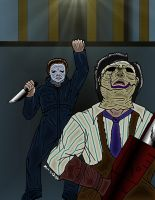 Michael Myers vs. Leatherface by MDVillarreal