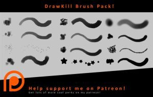 DrawKill's PS CC Brush Pack! by DrawKill