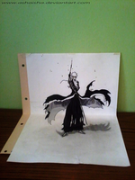 Ichigo's Bankai totally mastered       [3D Sketch] by Ashaisha
