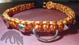 Studded Paracord Collar by NocturnalFuchs