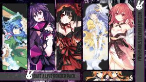 Date A Live Render Pack by YoshiSouls