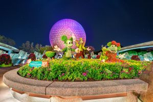 Flowers, Gardens and Spaceship Earth by shaderf