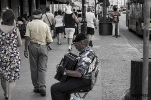A man with an accordion by EffectiveFive