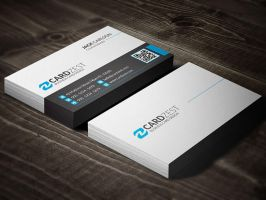 Free Clean Minimal Business Card Template by mengloong
