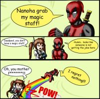 Deadpool_Nanoha Grab my MEME by Evil-Rick