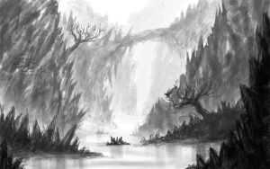 landscape sketch2 by WhiteLeyth