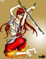 Erza Scarlet (Fantasia Artbook) by Ishthak