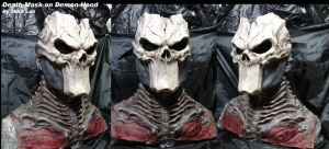 Death Mask with Demon Hood by Uratz-Studios