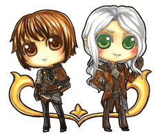 Enoren and Chrys Chibi by Theherois--me