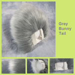 Grey Bunny Tail by Lascivus-Lutra