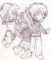 The Angelo Bros. and Sister! by Neloku