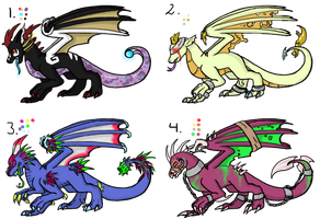 Halloween dragon adopts 2 by DarkoDraco