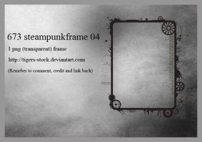 673 Steampunk Frame 04 by Tigers-stock