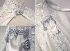 Zelda Wedding Dress Details by Lillyxandra