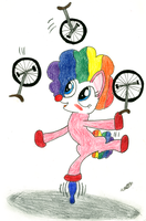 Pinkie Pie Clowning Around by CobaltBrony