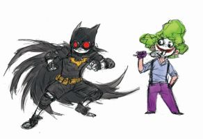 Batman and Joker Kids by milkyliu