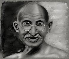 Gandhi by GallienA