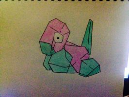Porygon Drawing. by Megalomaniacaly