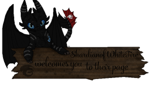 ShardianofWhiteFire - Welcome Sign by therealtwilightstar