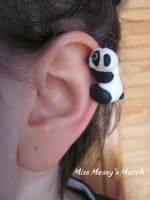 Panda ear cuff by kolkrisz