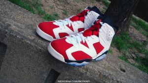 Air Jordan 6 Retro 'Carmine' by BBoyKai91