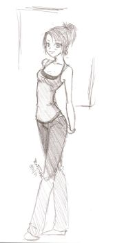 Me Sketched by kittyk155ez