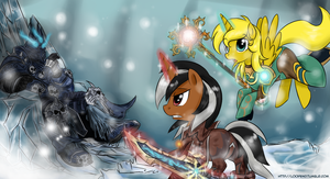 Commission - Attack On Lich King by LoopEnd