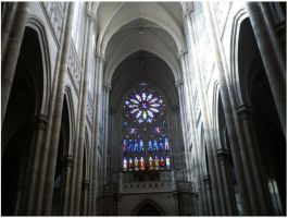 Rosette of the cathedral. by Anakisha