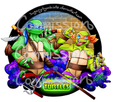 TMNT commission _Leo and Mikey by SugarySymbiote