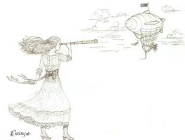Airship Through a Spyglass by CuriouSolo