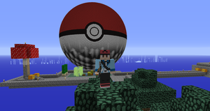 Minecraft-Giant Pokeball (MC 1.25) by PkmnMc