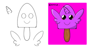 Cute Popsicle Pony Base by lessy652