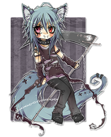 Reaper Neko Adopt #16 [CLOSED] by nerinrin