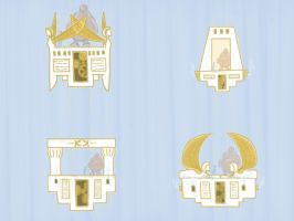 Concepts for egyptian steampunk elevator by cmdesigna