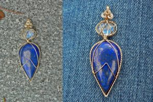 Royal Blues Pendant by magpie-poet