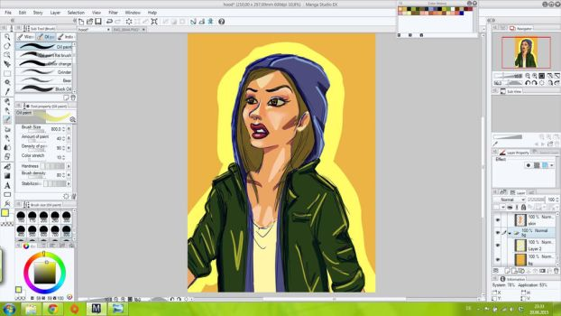 Hooded Girl in mid process by FrolleinGrottenolm