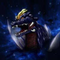 Heisei head shots SpaceGodzilla by gfan2332