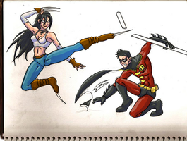X-23 VS Robin by CaptainRicco