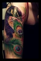 peacock tattoo 3 by fieldeee