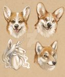Ornament Critter Paintings by brushandtea