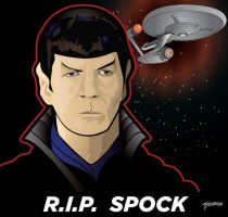 RIP Spock by stourangeau