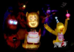 FNaF Anniversary :3 by Toychica14